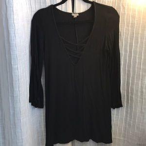Dresses & Skirts - Black boho dress size S